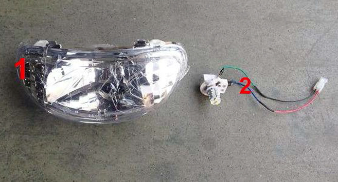 Nordic Cruiser Headlight Bulb and Shell Set